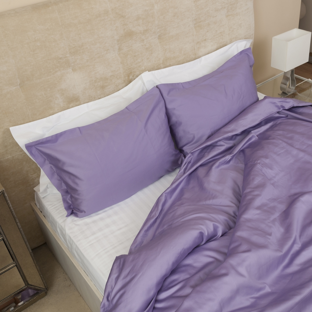 Purple Sateen Duvet Cover Set