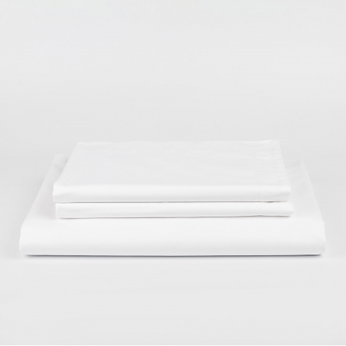 White Percale Duvet Cover Set