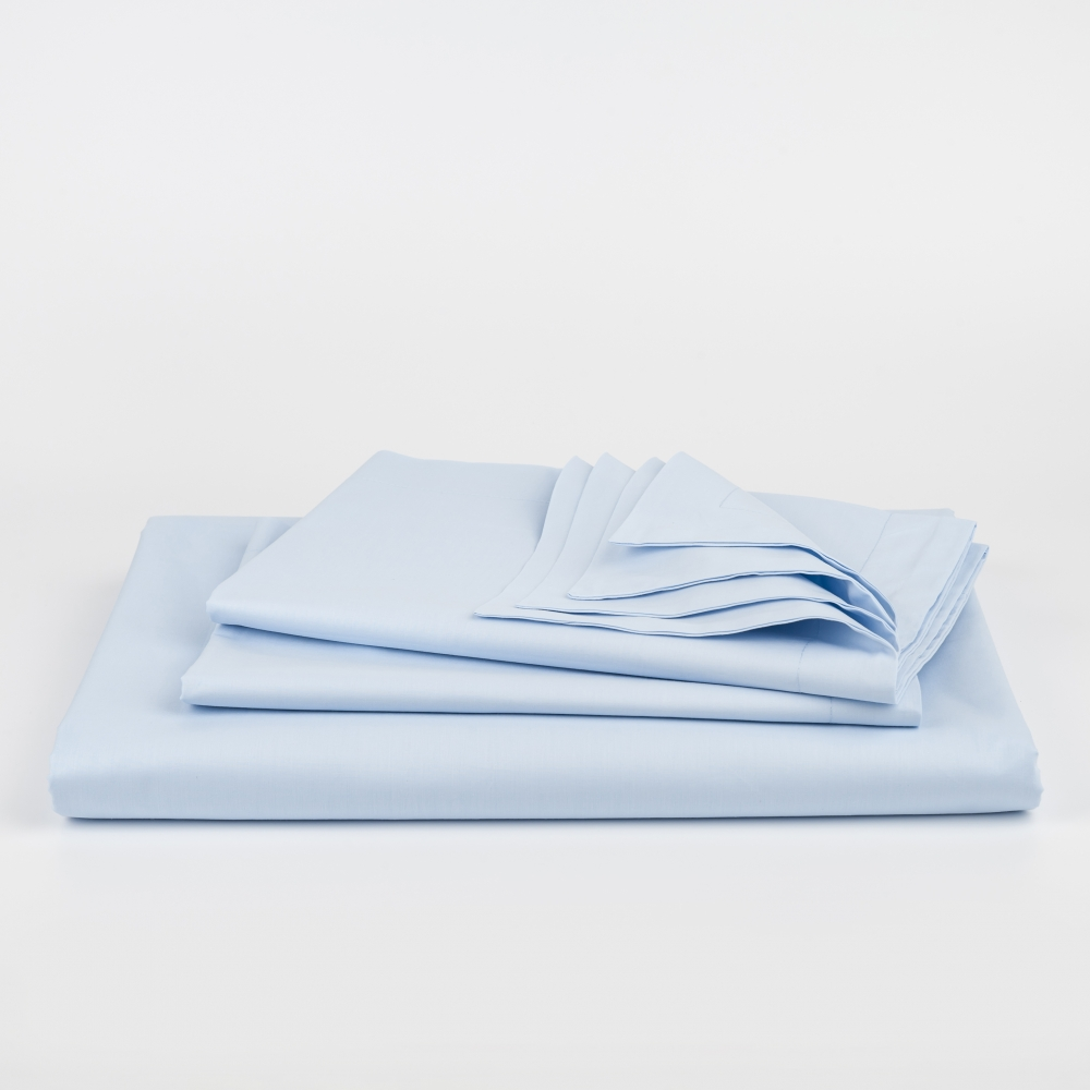 Azure Percale Duvet Cover Set