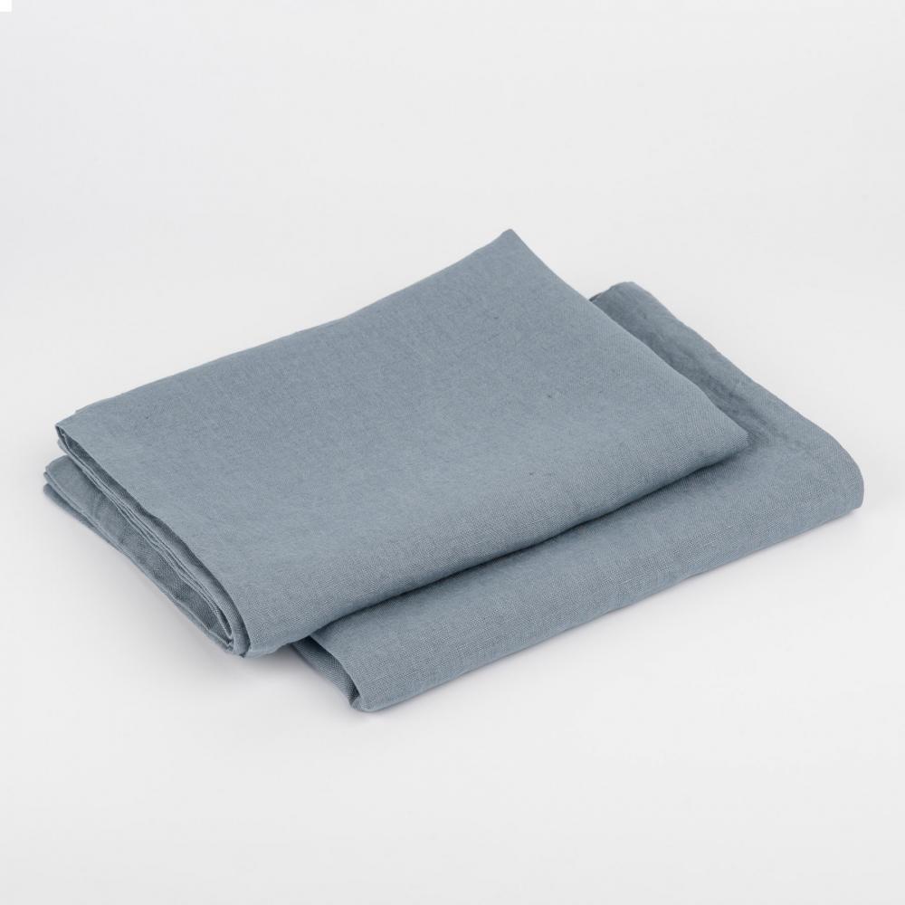 Stone Blue Linen Duvet Cover Set