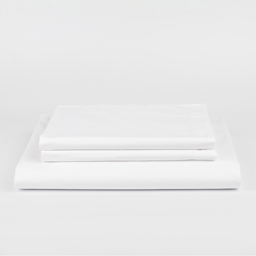 White Percale Sheet Set