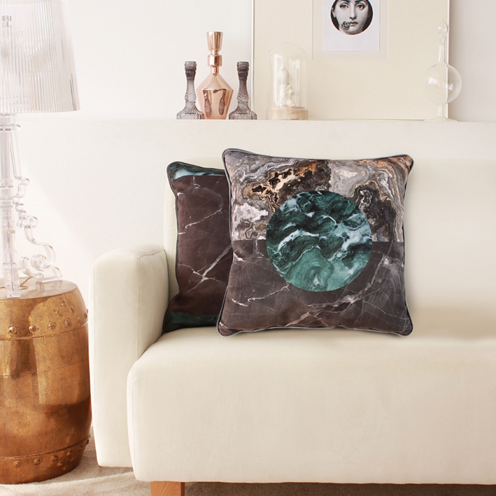 Earth Velvet Touch Throw Pillow Covers – Set of 2