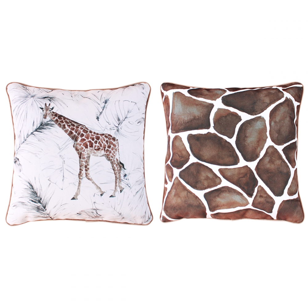 Safari Velvet Touch Throw Pillow Covers – Set of 2