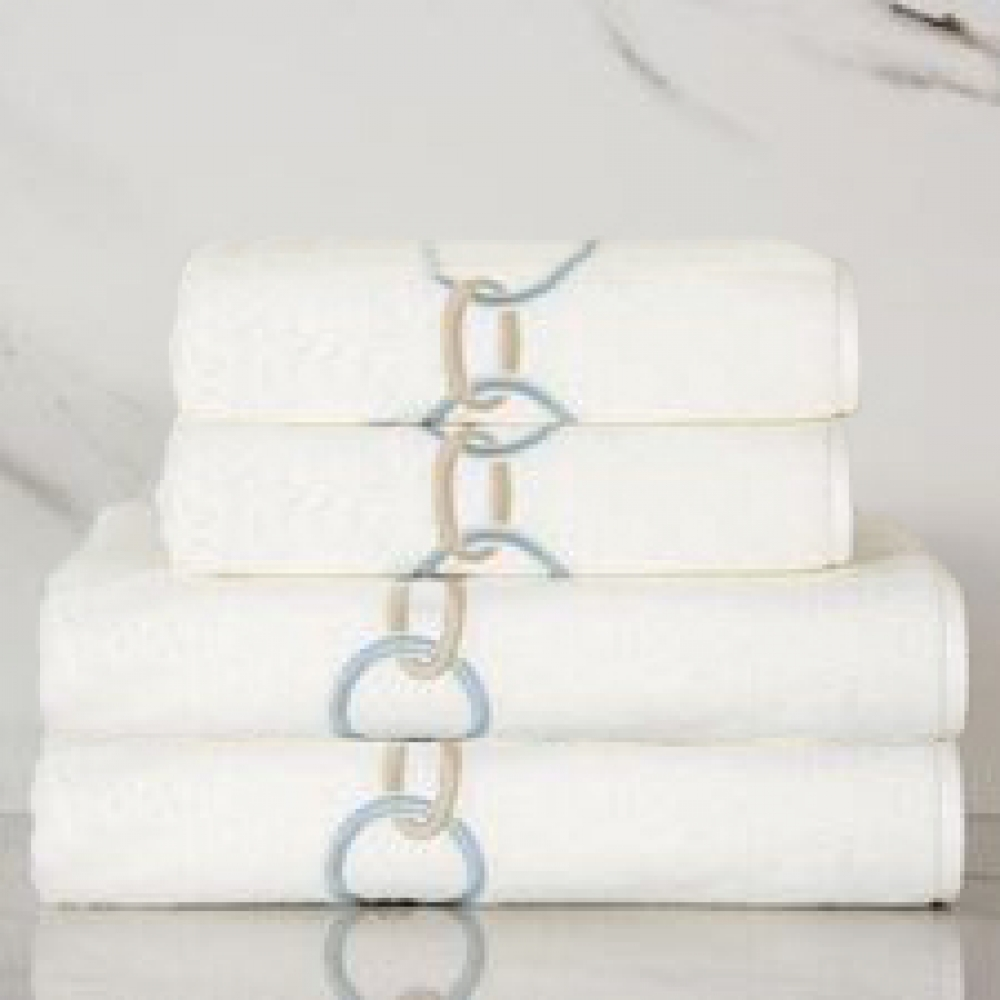 Marine Chain Embroidery Bath Towel Set